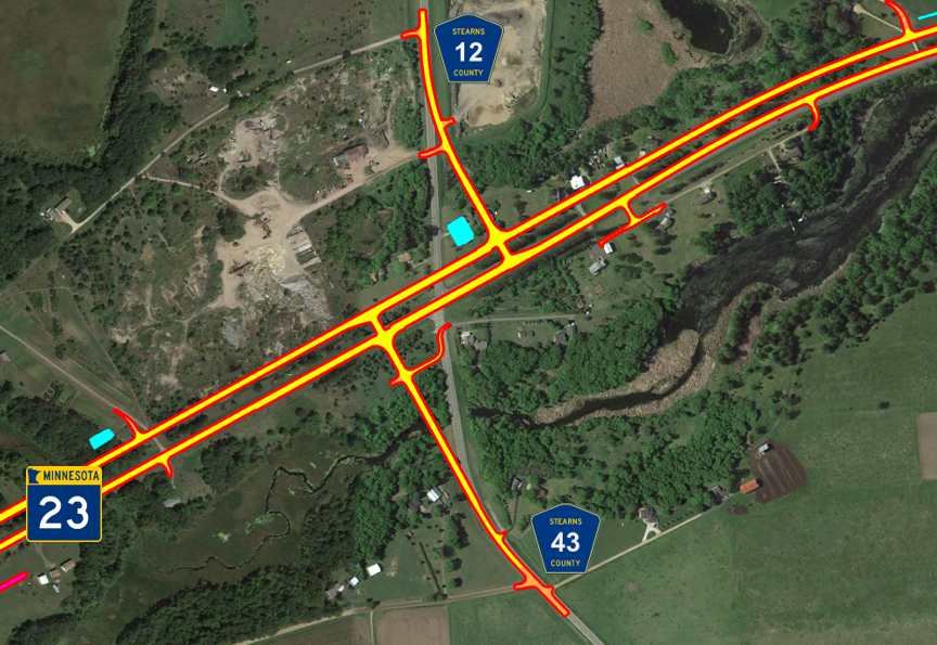 County Road 12 & 46 Intersection – Offset T